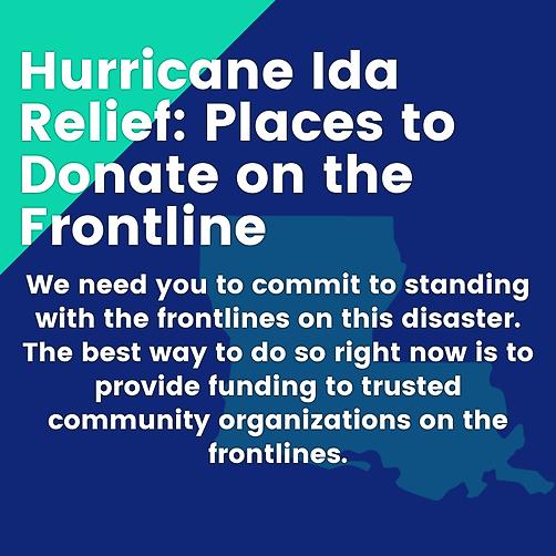 Hurricane Ida Relief (ForAHealthyGulf) Profile Image | Linktree