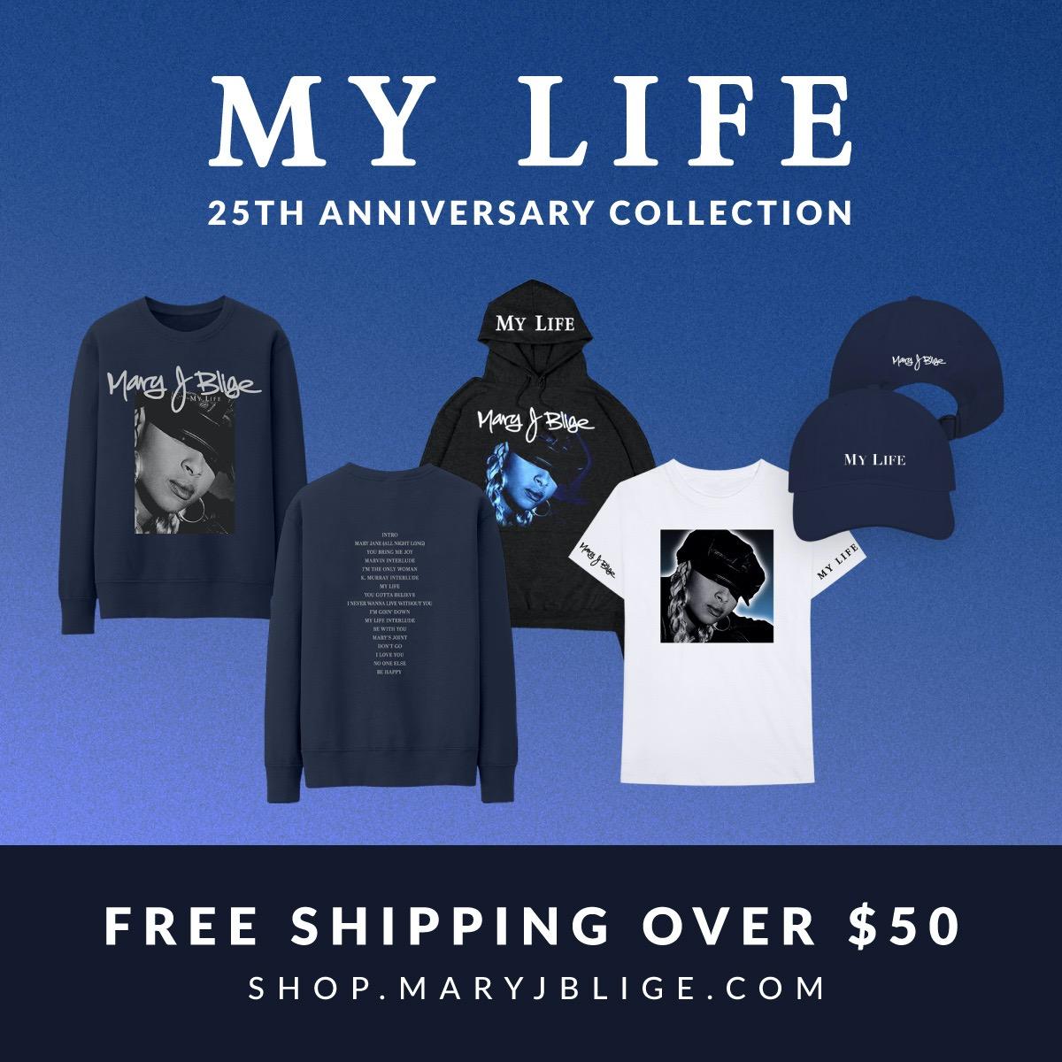 @therealmaryjblige MY LIFE 25 Merch & Bundle Link Thumbnail | Linktree