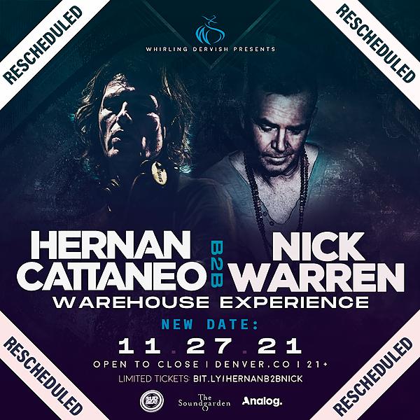 @whirlingdervishproductions Hernan Cattaneo B2B Nick Warren Warehouse  Nov 27th  Tickets Link Thumbnail | Linktree