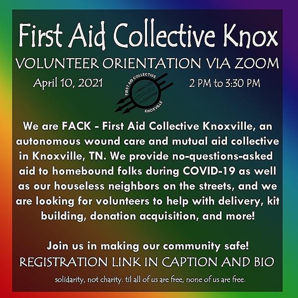 FACK Volunteer Orientation Sign-up (4/10/21)