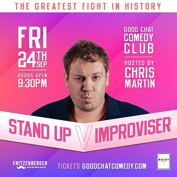 @goodchatcomedy Get tickets to Stand-up vs Improviser! [Sept 24] Link Thumbnail | Linktree