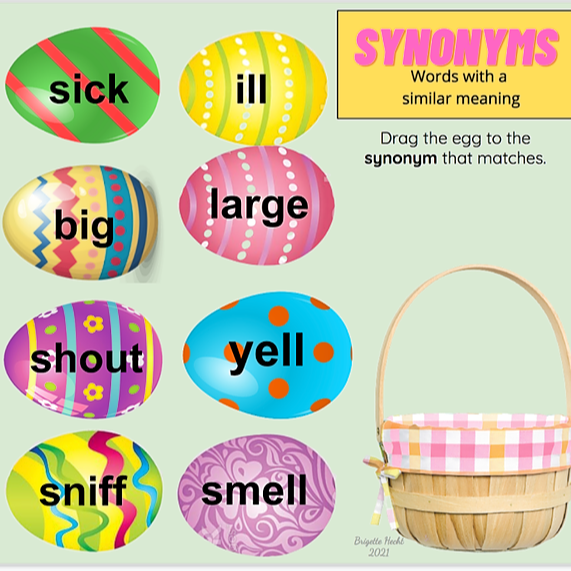 Miss Hecht Teaches 3rd Grade Synonym & Antonym (Eggs) Link Thumbnail | Linktree