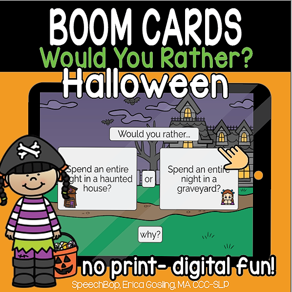Halloween Would You Rather - FREEBIE!