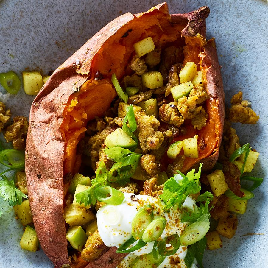 Curry Turkey-Stuffed Sweet Potato Recipe