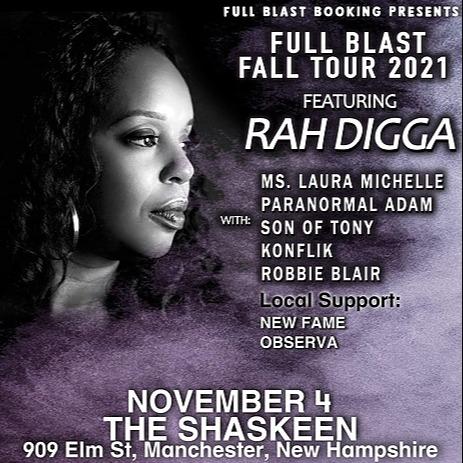 Full Blast RAH DIGGA @ The Shaskeen - Manchester, NH - Full Blast Fall Tour 2021 Link Thumbnail | Linktree