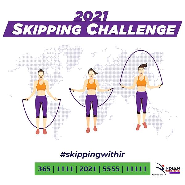 @IndianMarathon Skipping Challenge 2021 Link Thumbnail | Linktree