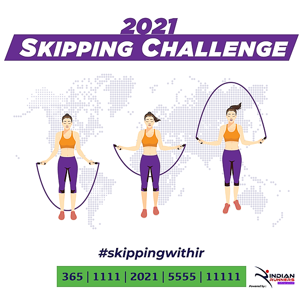 Indian Runners ROPE SKIPPING CHALLENGE Link Thumbnail | Linktree