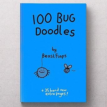 100 Bug Doodles Hardback