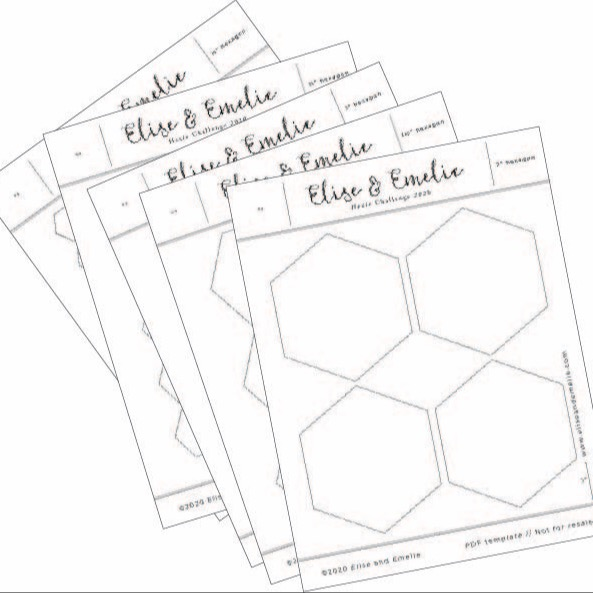 Grab your free printable hexagons in 5 sizes!