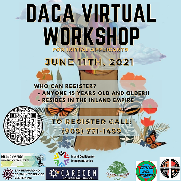 6.11 Register for DACA virtual workshop/ Taller de DACA 11-06-21