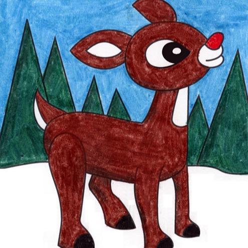 @artprojectsforkids Draw Rudolph Link Thumbnail   Linktree