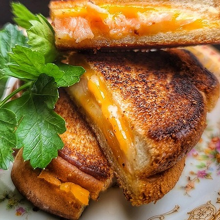 Grilled Cheese Salmon Sandwich