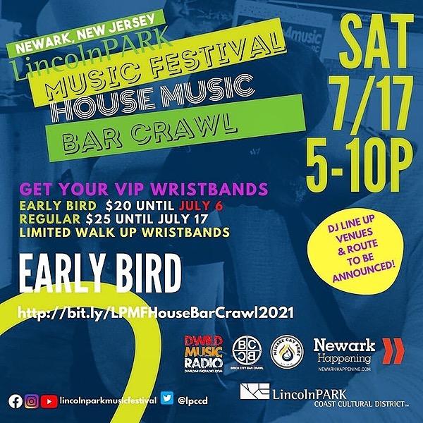 Newark Pride Festival 2021 LPMF Bar Crawl - TEAM NEWARK PRIDE Link Thumbnail | Linktree