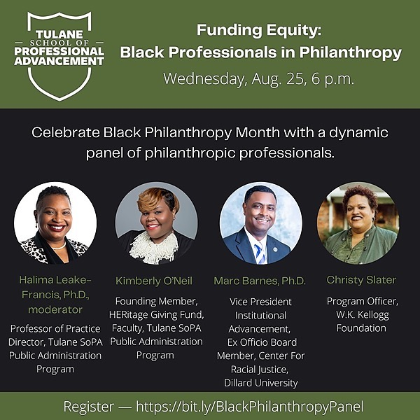 Professor Kimberly O'Neil [Watch] Tulane University Funding Equity: Black Professionals in Philanthropy  Link Thumbnail | Linktree