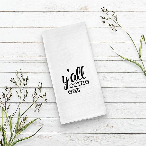 Agnes Belle Y'all come eat cotton tea towel Link Thumbnail | Linktree