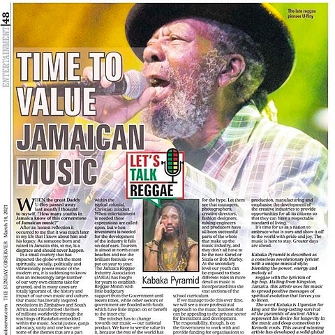 Time To Value Jamaican Music