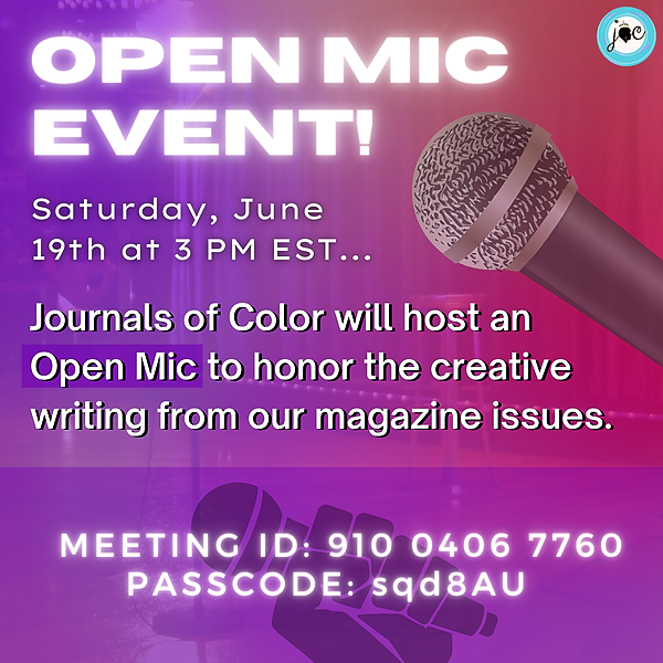🎤 Register for our Open Mic Event! 🎤