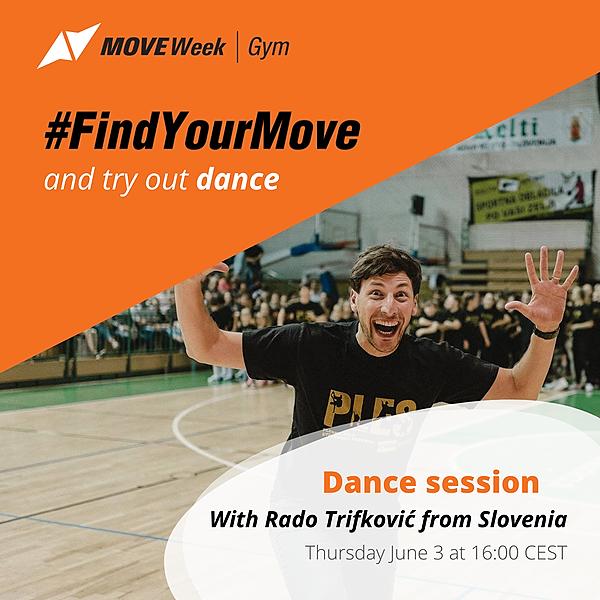 Thu, 16.00 CEST - Dance session with Rado Trifković
