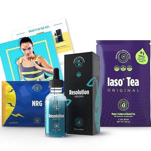 Fat burner kit - NRG, Resolution drops, Iaso tea