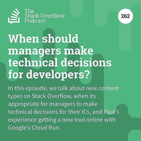 When should managers make technical decisions for developers?