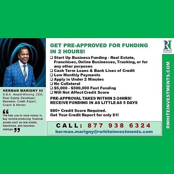 Herman Marigny III Get Pre-Approved for Funding in 2 Hours! Link Thumbnail   Linktree