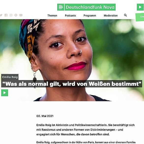@emiliazenzile DeutschlandFunk Nova Interview Link Thumbnail | Linktree