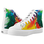 #painting #fashion 🎨 High Top Sneakers