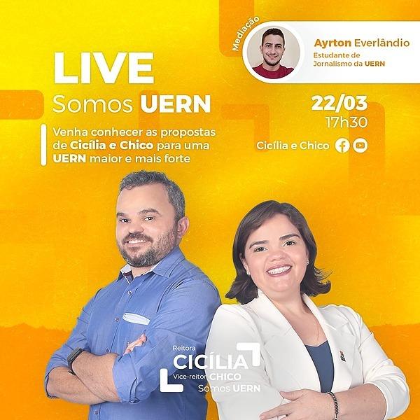 Live de Lançamento de candidatura I Venha participar com a gente!