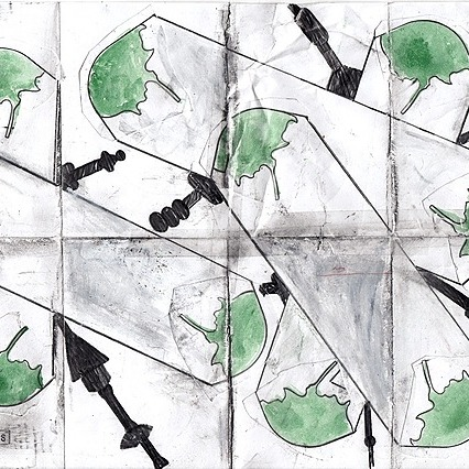 @osvaldocibils flick artworks scanned drawings mixed media on A4 paper Link Thumbnail   Linktree