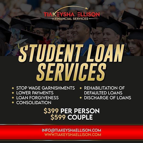 @Tiakeysha Student Loans Services ($399) Link Thumbnail | Linktree