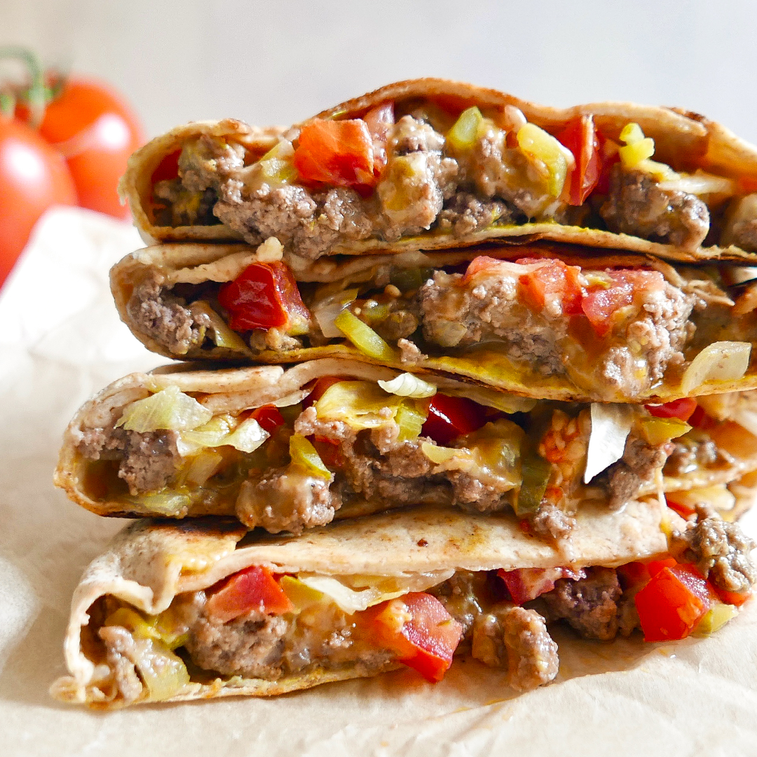 Cheeseburger Crunch Wrap Recipe