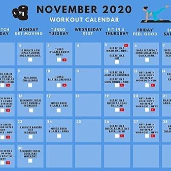 FREE Workout Calendar!