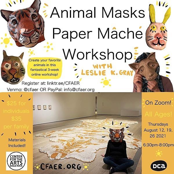 @CFAER Animal Masks Paper Mache Workshop with Leslie K. Gray Link Thumbnail | Linktree