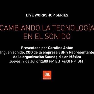 Carolina Antòn Cambiando la tecnología en el Sonido with Carolina Anton - Webinar Link Thumbnail | Linktree