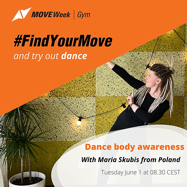 Tue, 8.30 CEST - Dance body awareness with Maria Skubis