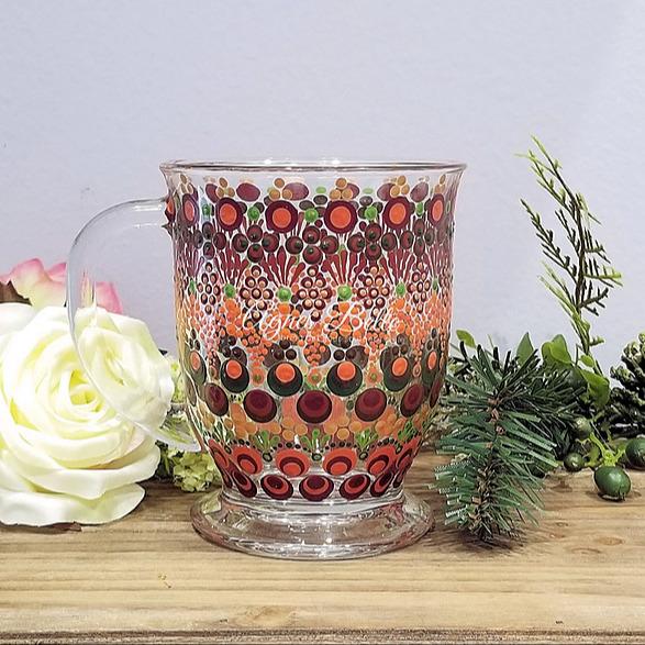 Agnes Belle Hand painted glass mug Fall  Link Thumbnail | Linktree