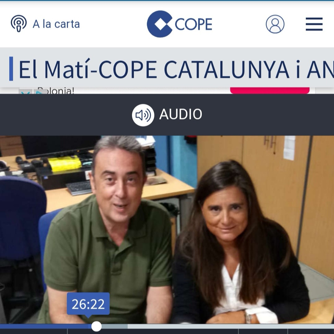 Entrevista Radio COPE El matí CAT Y ANDORRA link al programa entero, entrevista min. 26.00 - 38.00