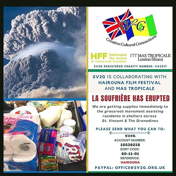 Donate to our SVG La Soufriere Relief Fund - SV2G x Mas Tropicale x HFF