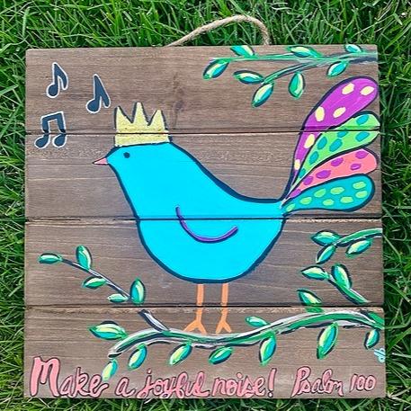 Wood Pallet Joyful Bird Art Kit