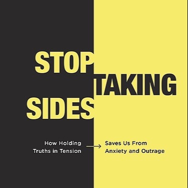 """NEW BOOK! """"Stop Taking Sides"""""""