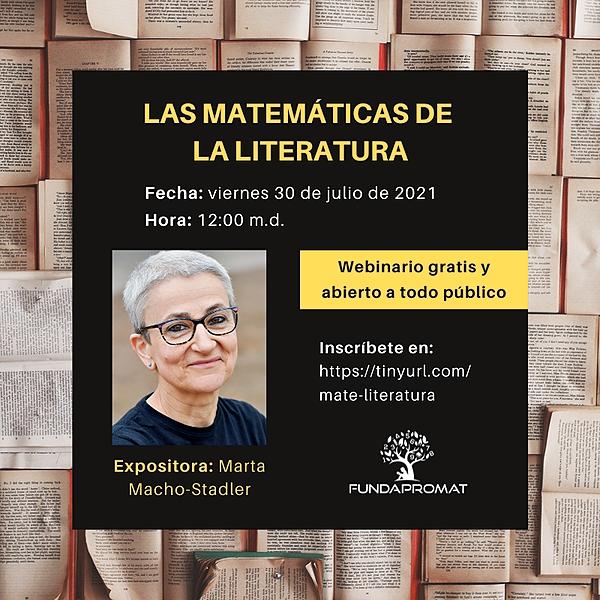 @jshakall Webinario de Las Matemáticas de la Literatura Link Thumbnail | Linktree
