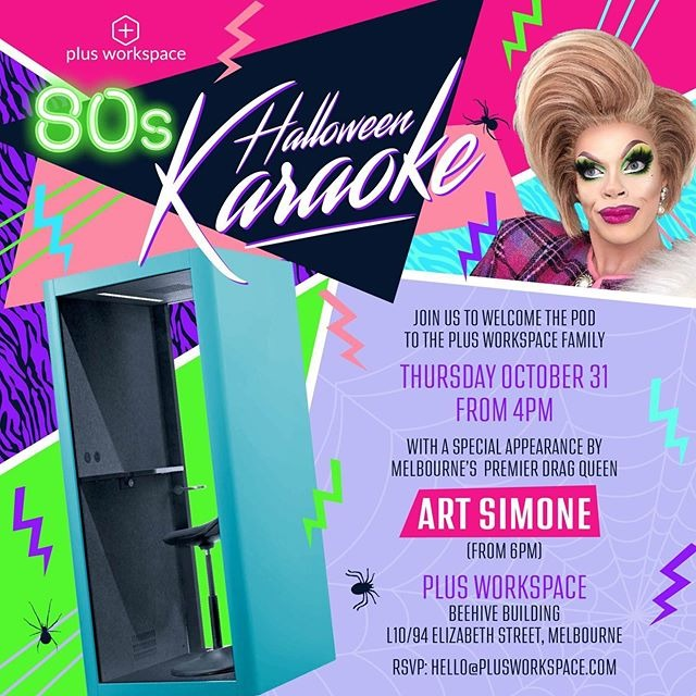 October Plus Monthly. 80s Halloween party this Thursday! QUEEN ART SIMONE is coming!