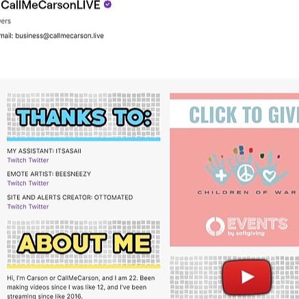 @CHILDRENOFWARFOUNDATION CallmeCarson @ Softgiving  Link Thumbnail   Linktree