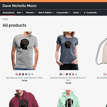 Dave Nicholls Music - Complete Dave Nicholls Music Shop Link Thumbnail | Linktree