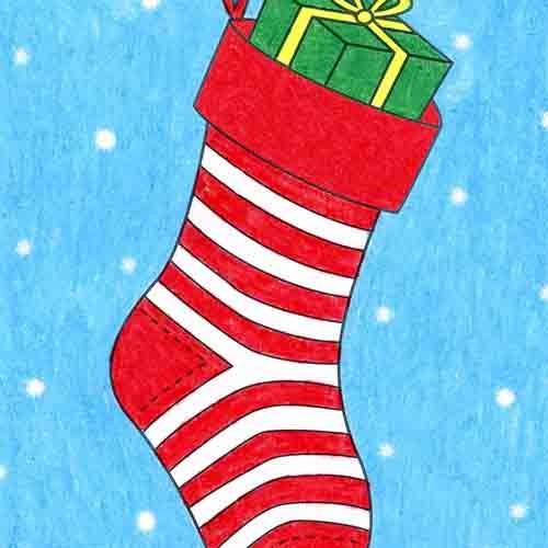 @artprojectsforkids Draw a Christmas Stocking Link Thumbnail   Linktree
