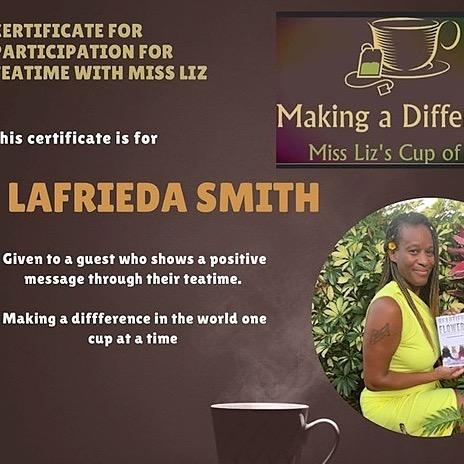 @AuthorLaFrieda YouTube- Tea Time with Miss Liz  Link Thumbnail | Linktree