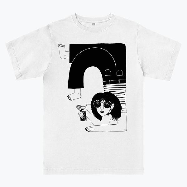 @lauraillustrates *New T-shirt* chill girl summer Link Thumbnail | Linktree