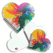 #painting #office 🎨 Hearts Notebooks