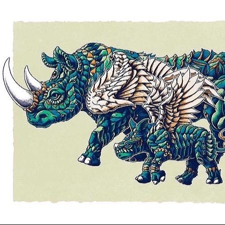 Rhino Art Green Variant
