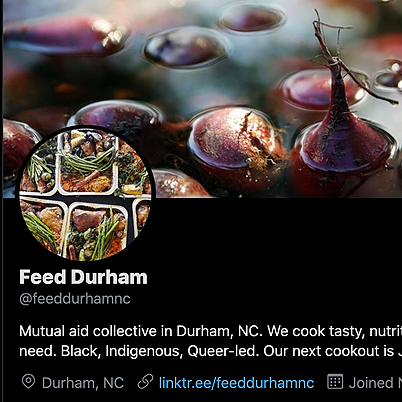 FEED DURHAM NC Follow us on Twitter Link Thumbnail | Linktree